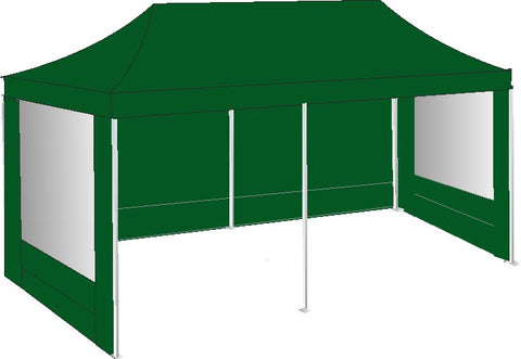 3M x 6M Green Pop Up Gazebo