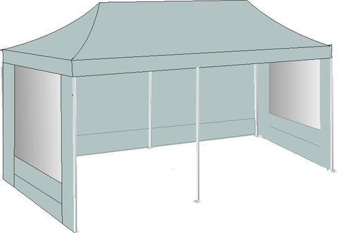 3M x 6M Grey Pop Up Gazebo