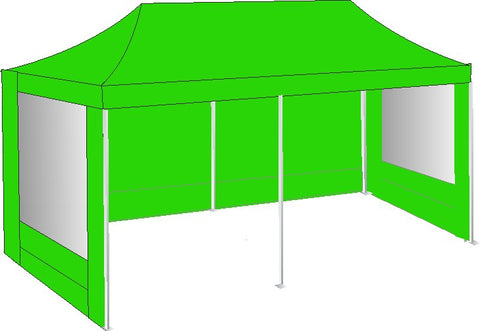 3M x 6M Lime Green Pop Up Gazebo