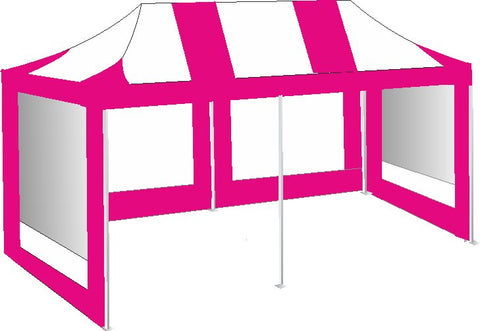 3M x 6M Pink and White Pop Up Gazebo