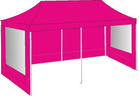 3M x 6M Pink Pop Up Gazebo