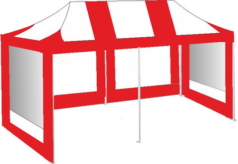 3M x 6M Red and White Pop Up Gazebo