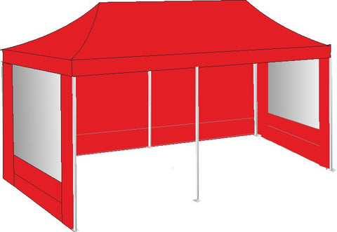 3M x 6M Red Pop Up Gazebo