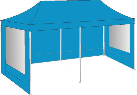 3M x 6M Sky Blue Pop Up Gazebo