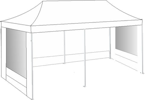 3M x 6M White Pop Up Gazebo