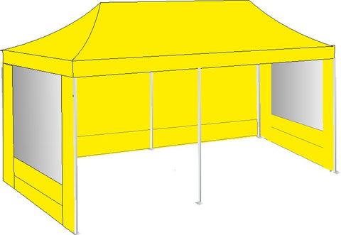 3M x 6M Yellow Pop Up Gazebo