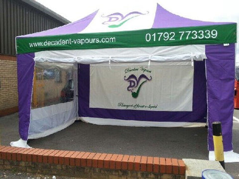 3M x 4.5M Printed Pop Up Gazebo