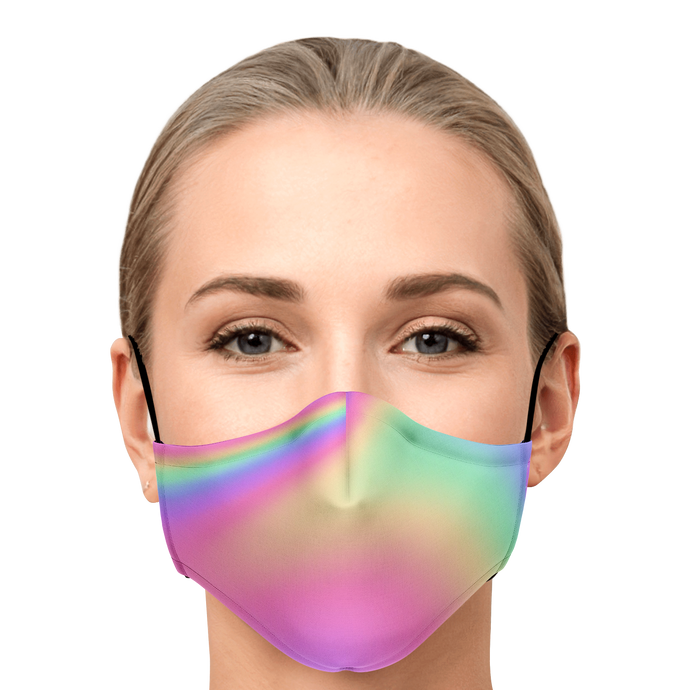 Iridescent Face mask with 2 PM 2.5 Filters