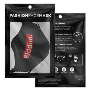 Riddim. Face Mask with PM 2.5 Filters