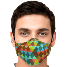 Load image into Gallery viewer, Triangle Pattern Face Mask with 2 PM 2.5 Filters