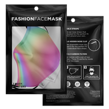 Load image into Gallery viewer, Iridescent Face mask with 2 PM 2.5 Filters