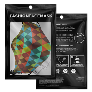 Triangle Pattern Face Mask with 2 PM 2.5 Filters