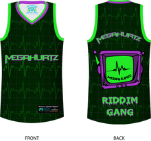 Load image into Gallery viewer, Megahurtz Riddim Gang official Basketball Jersey