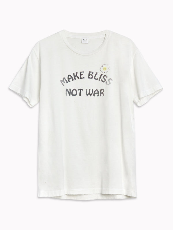 Bliss And Mischief 'Make Bliss Not War' Destroyed Tee