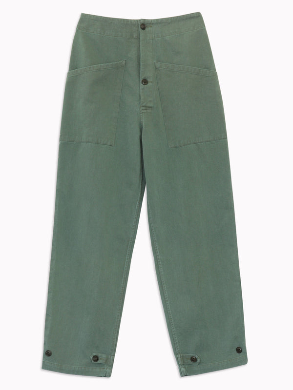 Artist Tab Pants in Army Green