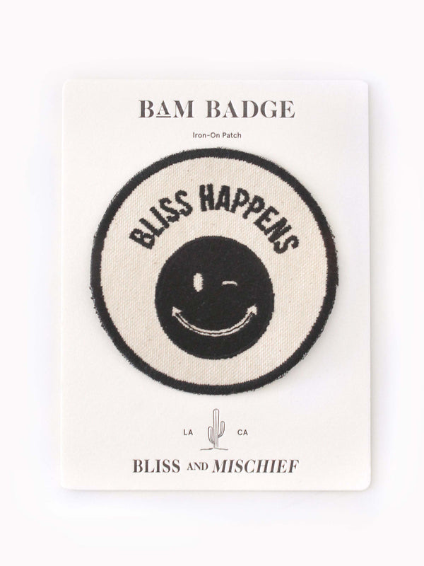 'Bliss Happens' BAM Badge - Bliss And Mischief