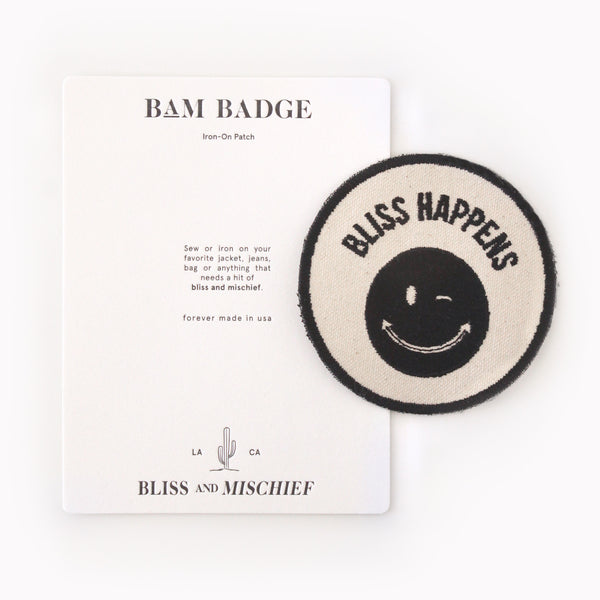 Bliss And Mischief 'Bliss Happens' BAM Badge