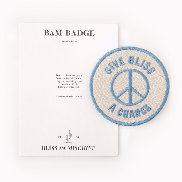 Bliss And Mischief 'Give Bliss a Chance' BAM Badge