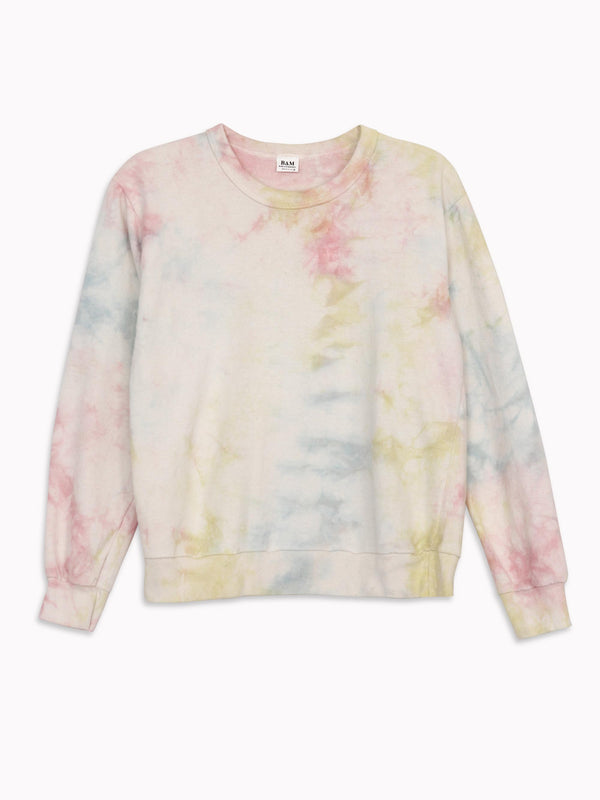 Bliss And Mischief-Organic Crew Sweatshirt in Tie Dye Bliss