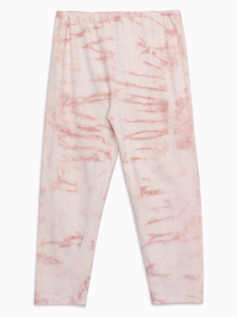 Bliss And Mischief-Organic Drawstring Sweatpant in Tie Dye Rose