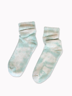 Bliss And Mischief-Organic Socks in Tie Dye Aloe