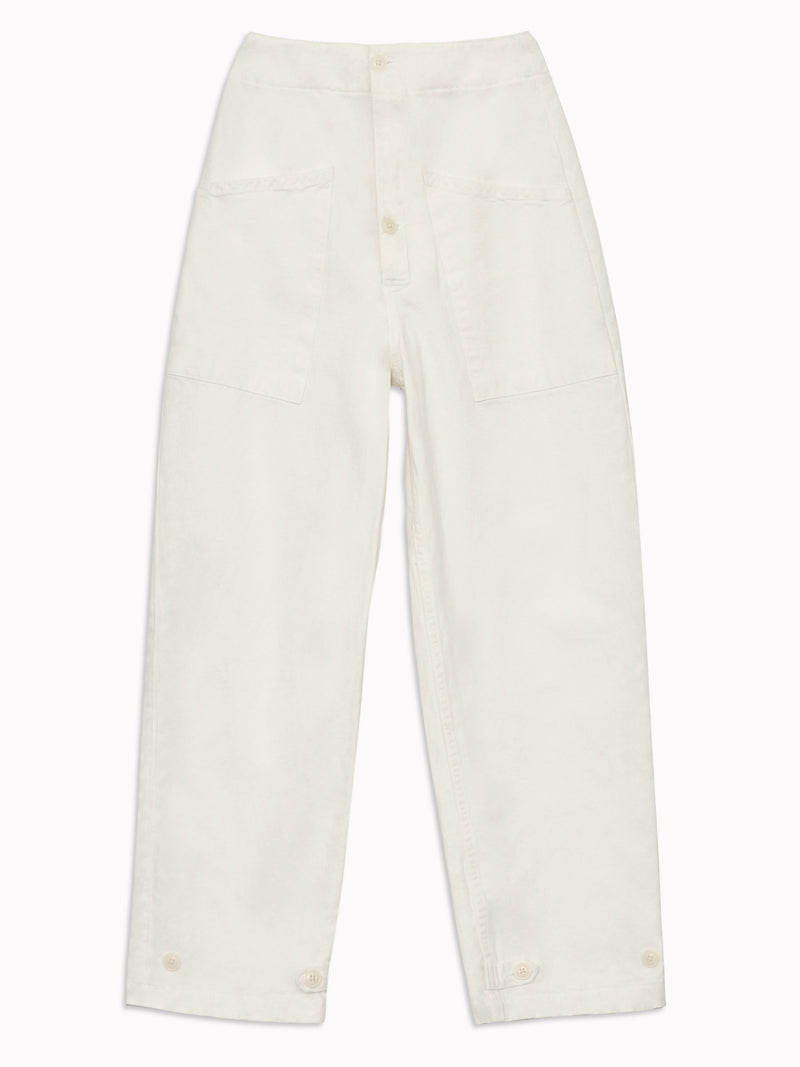 Artist Tab Pants in Vtg White