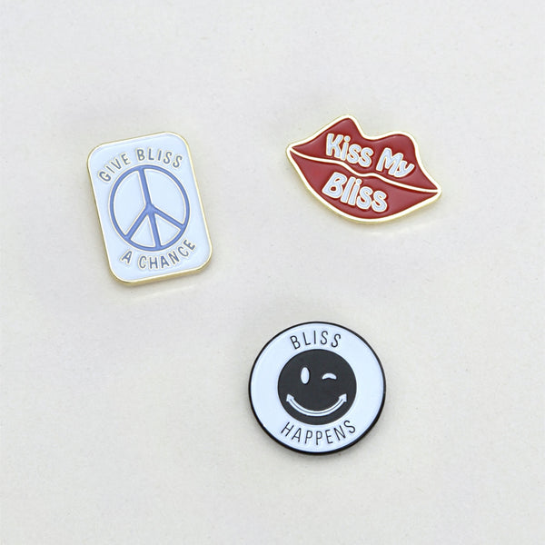 Bliss And Mischief Bliss Enamel Pin Set
