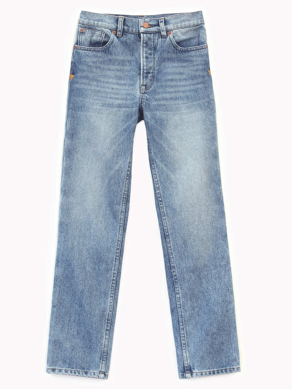 Bliss And Mischief Collector Fit Denim in Medium Wash