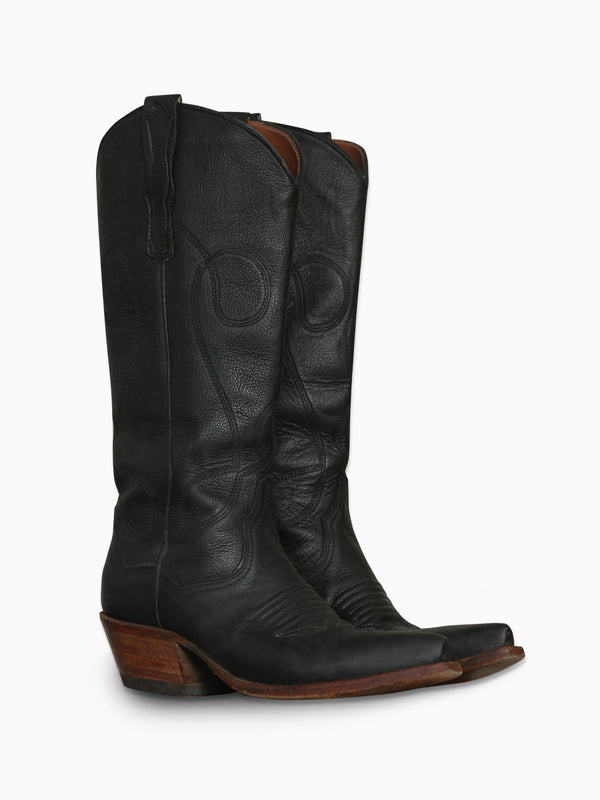 Cowboy Boots in Black - Bliss And Mischief