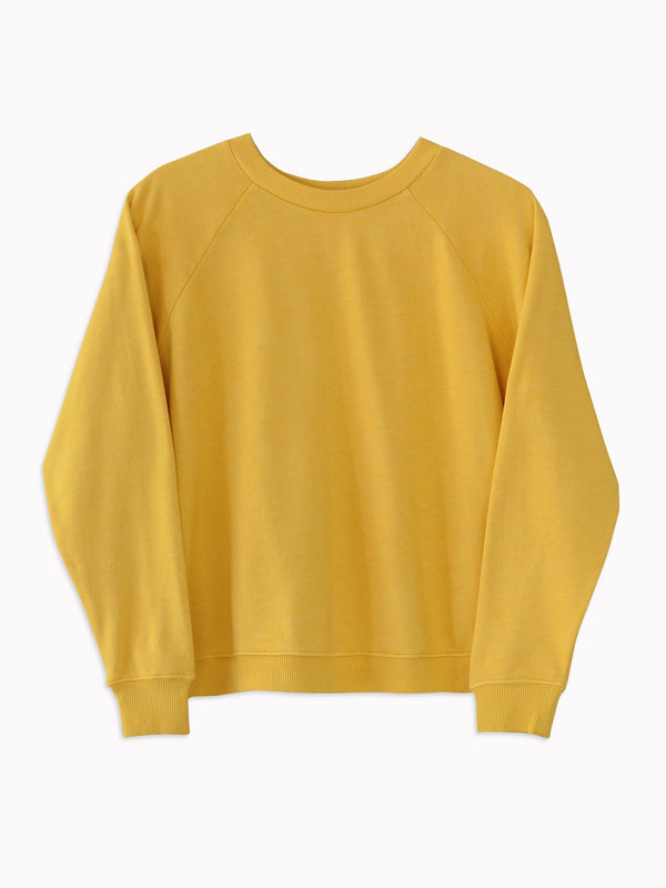 Raglan Sweatshirt in Mustard - Bliss And Mischief