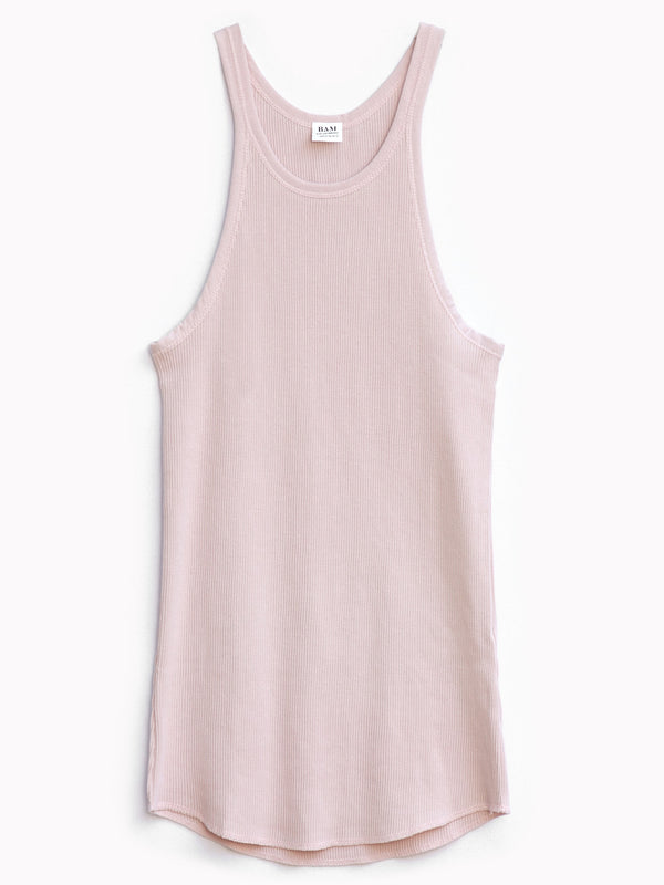 Rib Slim Tank in Rose - Bliss And Mischief