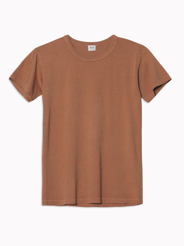 Solid Slim Tee in Cinnamon