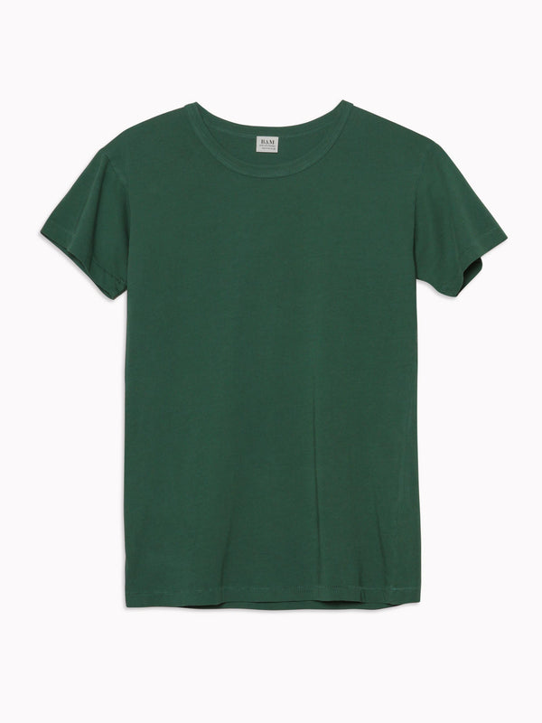 Solid Slim Tee in Forrest