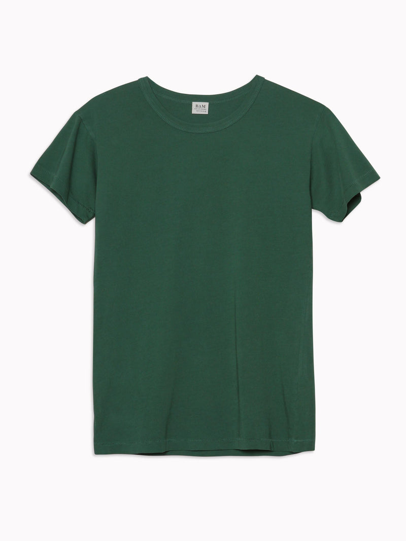 Solid Slim Tee in Forrest - Bliss And Mischief