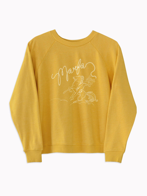 'Marfa' Raglan Sweatshirt in Mustard - Bliss And Mischief