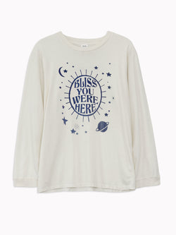 'Bliss You Were Here' Long Sleeve Tee - Bliss And Mischief