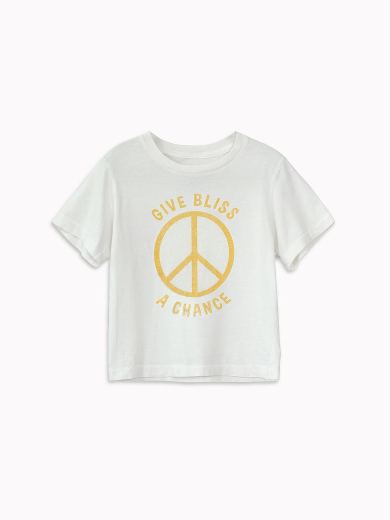 'Give Bliss a Chance' Kids Tee - Bliss And Mischief