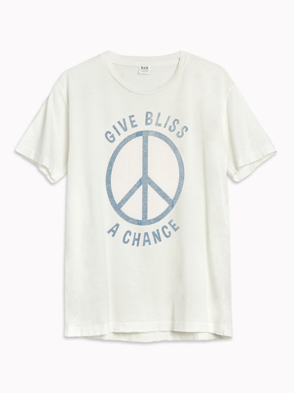 Bliss And Mischief 'Give Bliss a Chance' Destroyed Tee