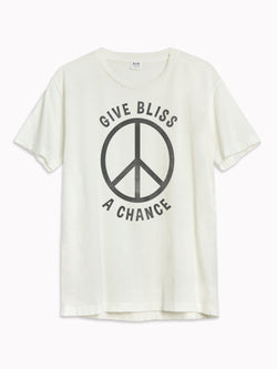 'Give Bliss a Chance' Black Destroyed Tee - Bliss And Mischief