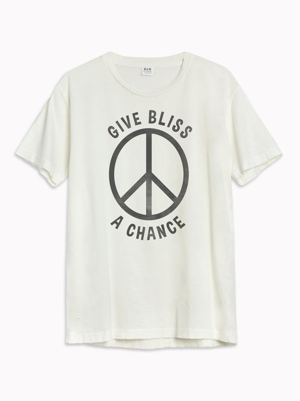'Give Bliss a Chance' Black Destroyed Tee