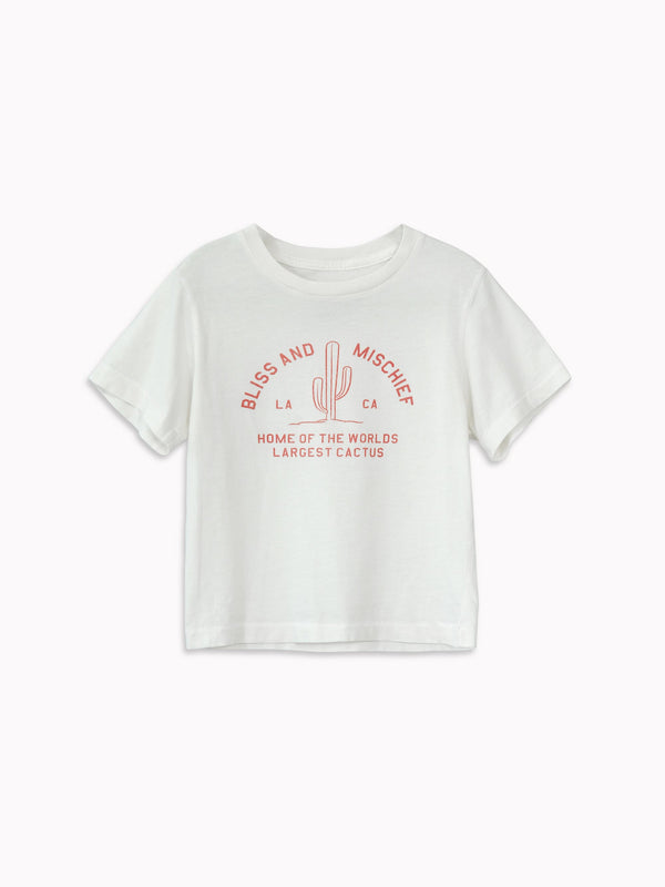 'Home of the World's Largest Cactus' Kids Tee - Bliss And Mischief