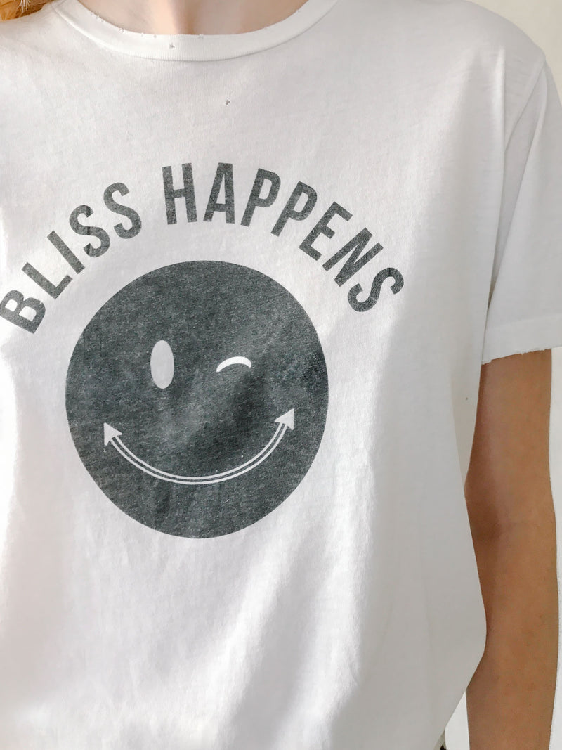 'Bliss Happens' Destroyed Tee - Bliss And Mischief