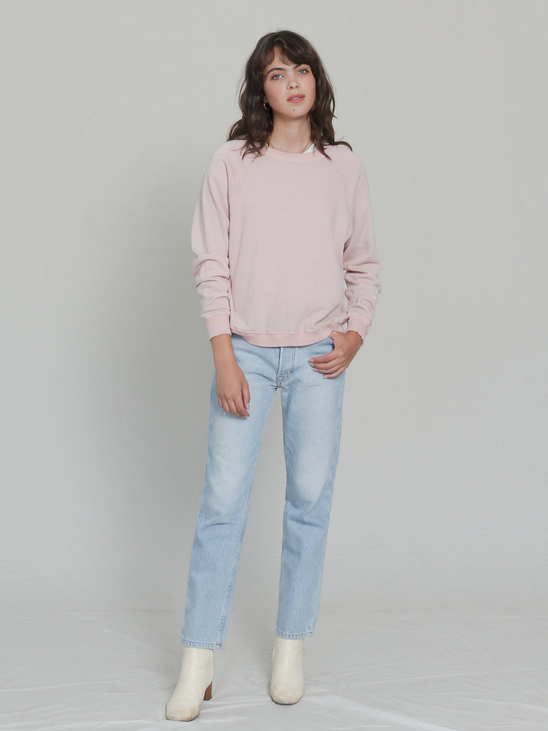 Raglan Sweatshirt in Rose - Bliss And Mischief