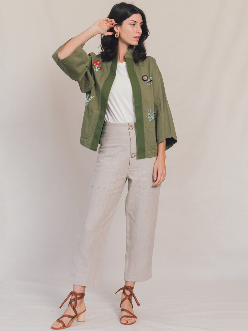 Jardin Embroidered Wrap Jacket - Bliss And Mischief
