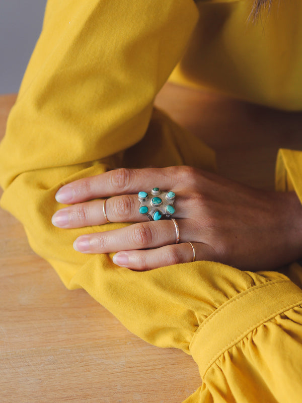 Gypsy Hunter Vintage Mixed Turquoise Ring