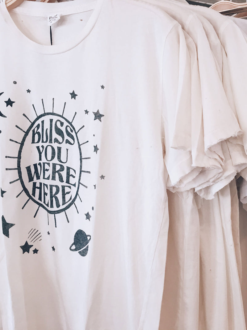Bliss And Mischief 'Bliss You Were Here' Destroyed Tee
