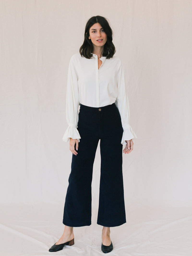 Shrine Corduroy Pant in Navy - Bliss And Mischief