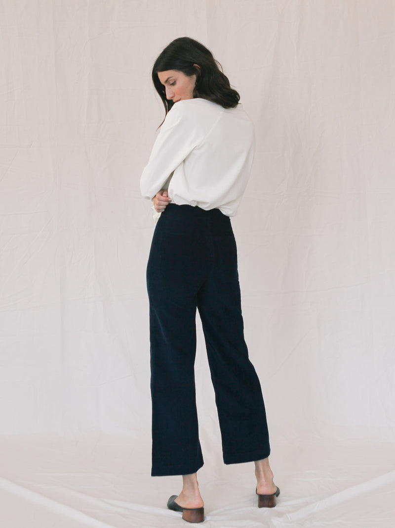 Bliss And Mischief Shrine Corduroy Pant in Navy