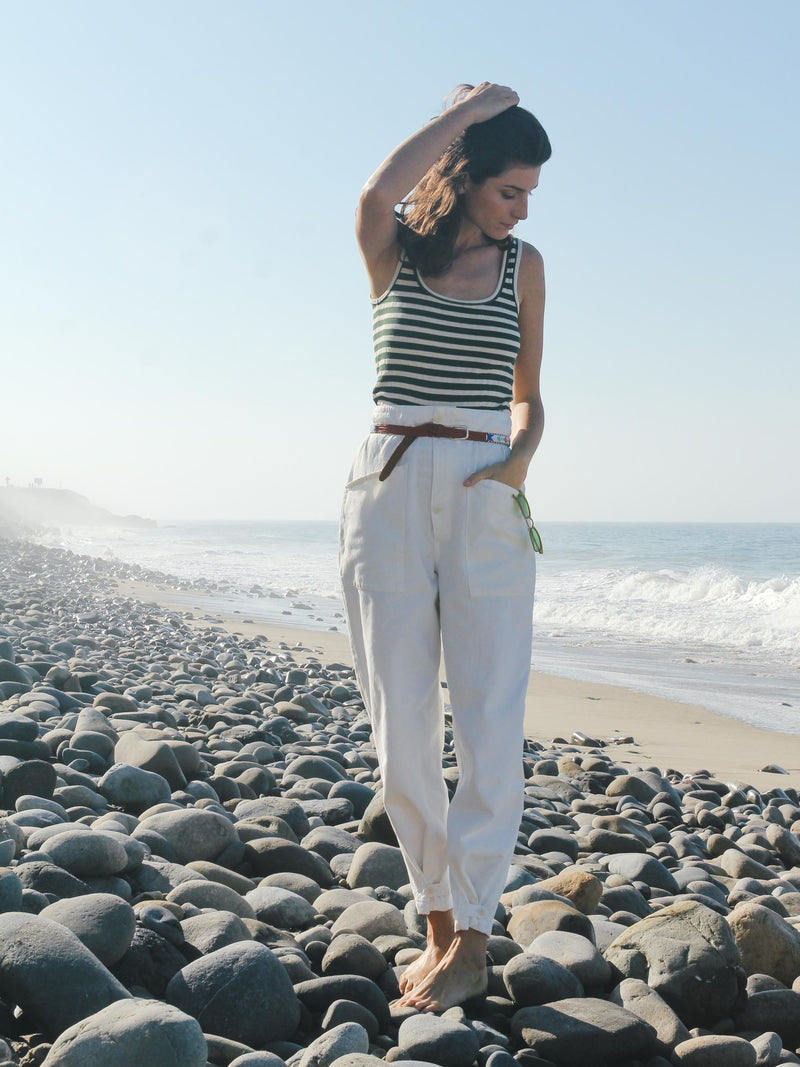 Artist Tab Pants in Vtg White - Bliss And Mischief