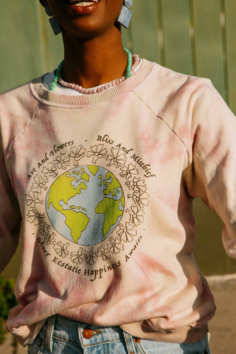 Bliss And Mischief - 'Happiness Awaits' Tie Dye Sweatshirt